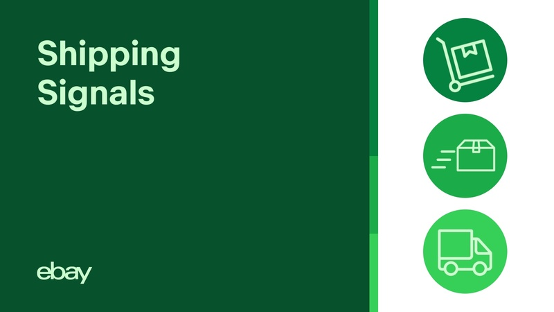 Shipping Signals Image with Green Shopping Icons