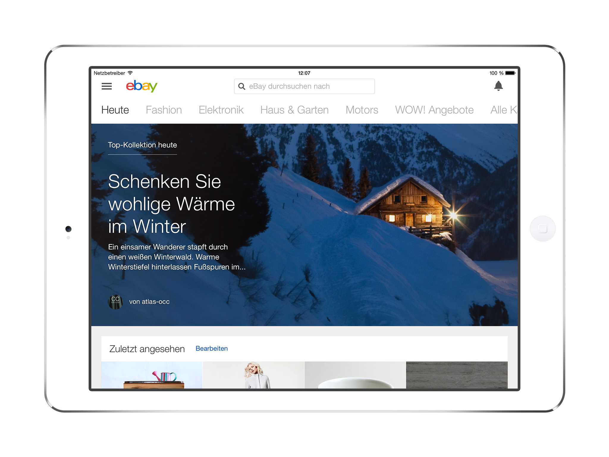 Weihnachtsshopping mit der neuen eBay iPad App - eBay Inc.