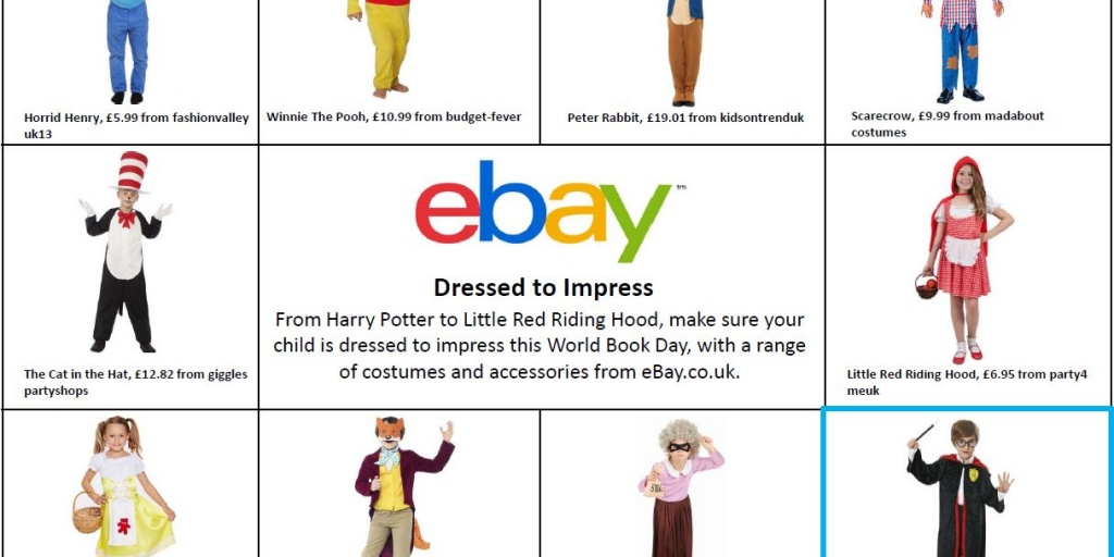 Ebay Co Uk Reveals Parents Set To Spend An Estimated 50 Million On World Book Day Ebay Inc