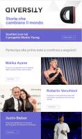 Justin Bieber, Malika Ayane, Roberto Vecchioni e altri si mettono all'asta su eBay per Diversity