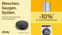 Sauber gespart: 10 Prozent auf Haushaltsgeräte bei eBay