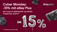 Cyber Monday bei eBay: 15 Prozent auf über 20.000 WOW!-Angebote mit eBay Plus