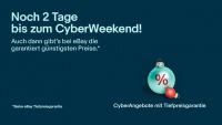 Cyber Weekend: Vom 23. bis 26. November dank eBay den wirklich besten Preis bekommen