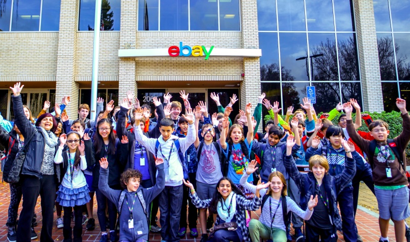 Celebrating the end of an exciting day at eBay HQ!