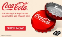 Legal Tender Coin, Shaped Like a Coca-Cola Bottle Cap, Available for Early Sale on eBay
