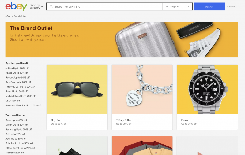 Ebay Launches Summer Brand Outlet And New Wave Of Incredible Deals On Thousands Of Items Starting Today