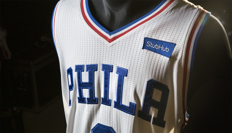 sports shoes 26fdc 6e3be StubHub and Philadelphia 76ers Announce First Jersey ...