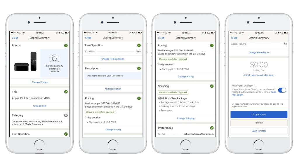 Ebay Rolls Out Enhanced Mobile Platform To Simplify Selling