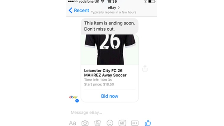 Ebay Pilot Brings Automated Messaging To Buyers Via Facebook Messenger