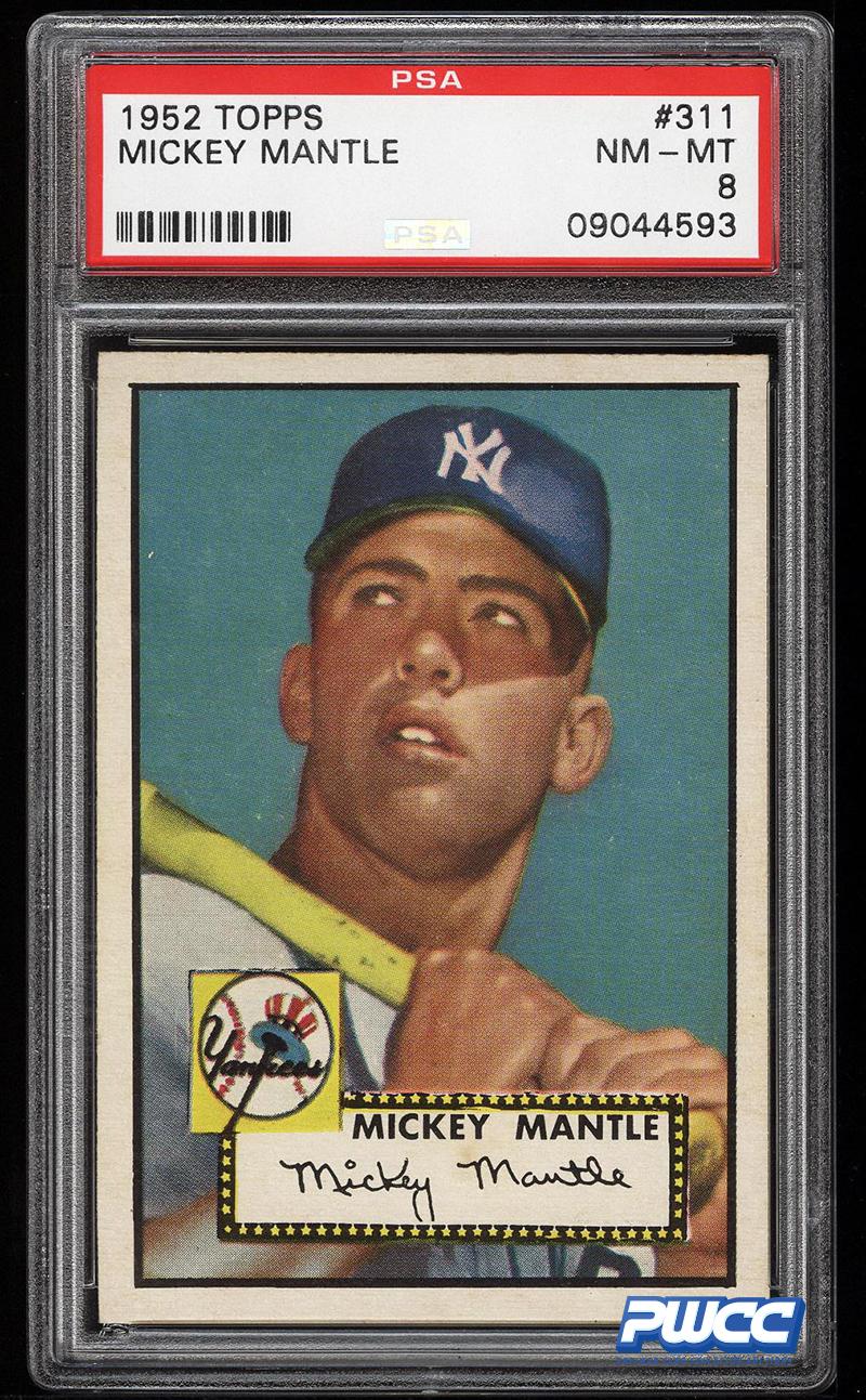 Near Mint 1952 Mickey Mantle Baseball Card May Set Record